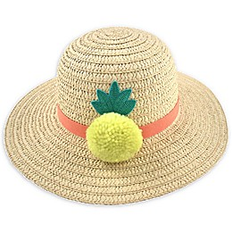 Addie & Tate Pineapple Sun Hat in Natural
