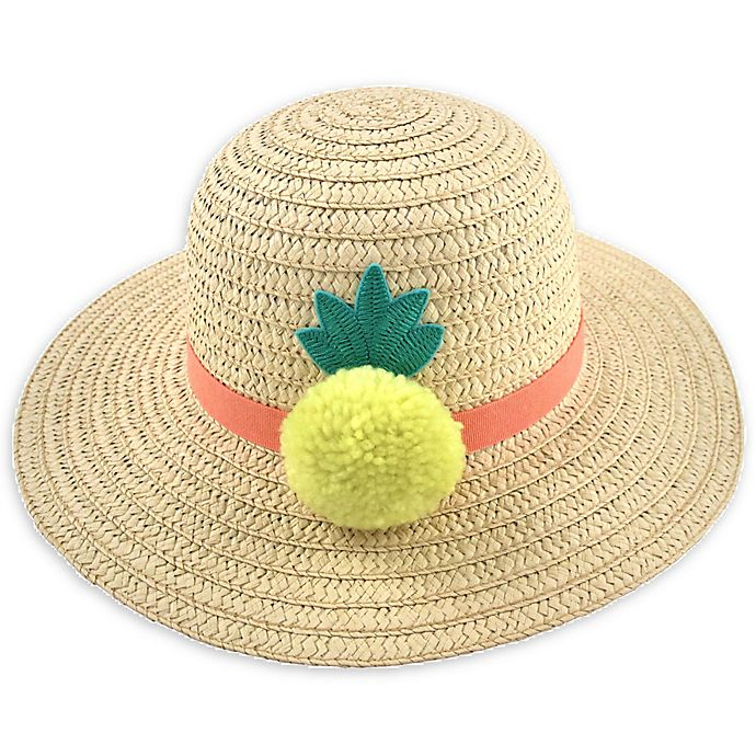 Alternate image 1 for Addie & Tate Pineapple Sun Hat in Natural