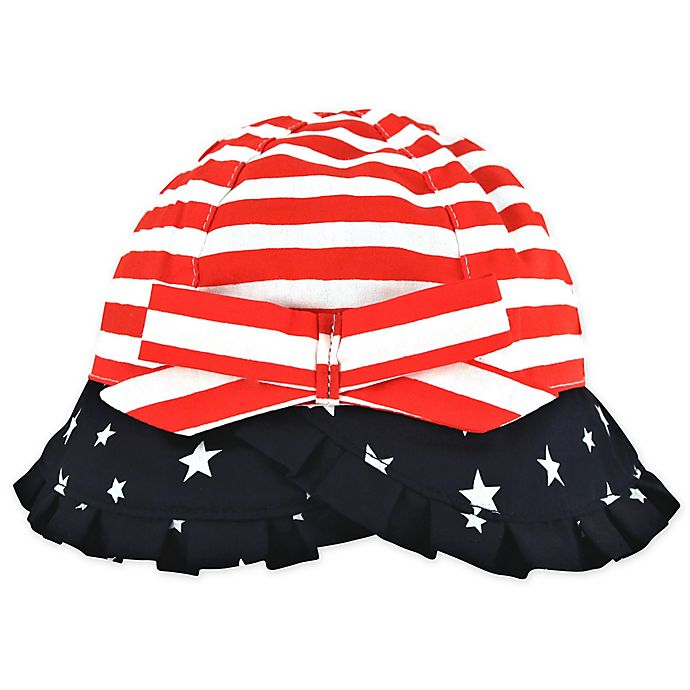Alternate image 1 for Addie & Tate Americana Toddler Bucket Hat in Red/White/Blue