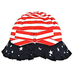 Addie & Tate Americana Toddler Bucket Hat in Red/White/Blue