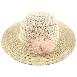 Addie & Tate Woven Sun Hat in Natural