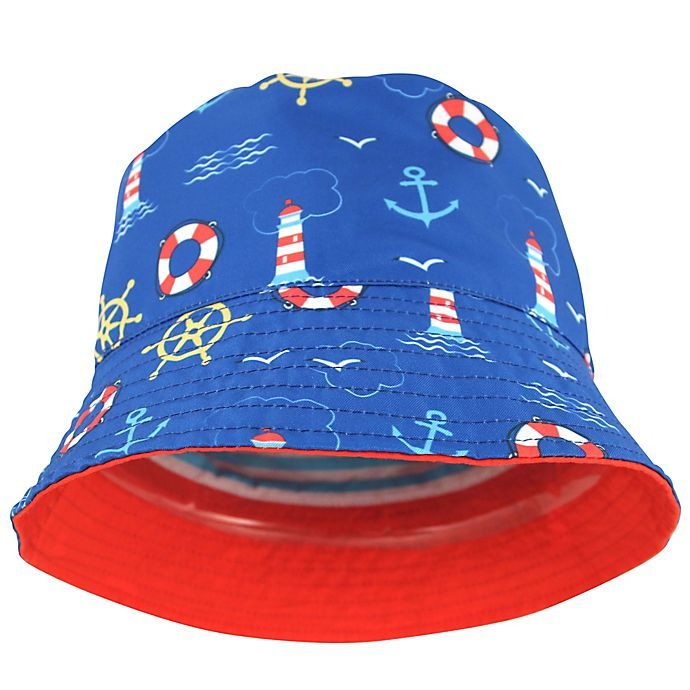 Alternate image 1 for Lighthouse Woven Cotton Hat in Red/Blue