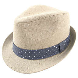 Addie & Tate Linen Fedora in Tan