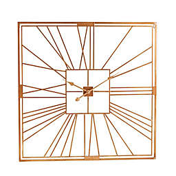 Southern Enterprises Bazely Open Frame 35-Inch Wall Clock in Gold