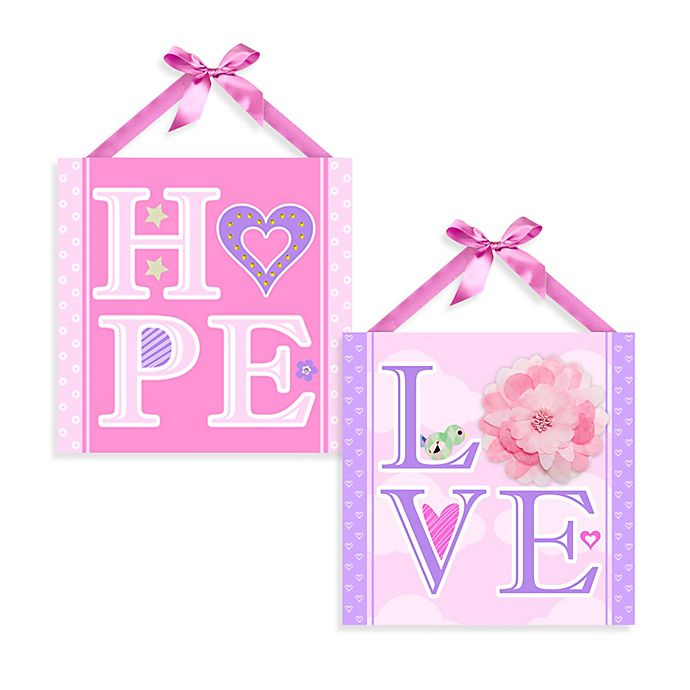 Alternate image 1 for Hope and Love Canvas Wall Art