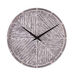 Southern Enterprises Serrenddon 32.25-Inch Wall Clock in Grey