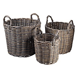 Bee & Willow™ Home Round Basket in Grey
