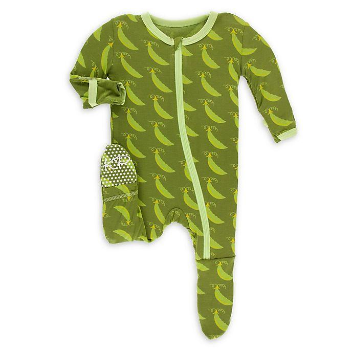 Alternate image 1 for KicKee Pants® Toddler Grasshopper Footie Pajama in Green