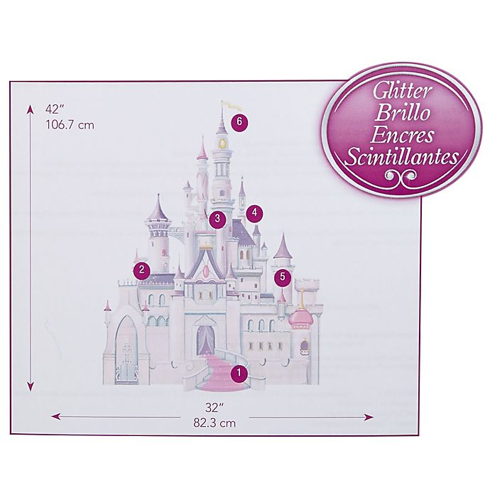 Alternate image 1 for Disney Baby® Princess Castle Giant Wall Decal