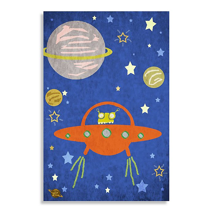 Alternate image 1 for Space Alien Canvas Wall Art
