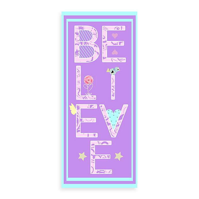 Alternate image 1 for Believe Canvas Wall Art