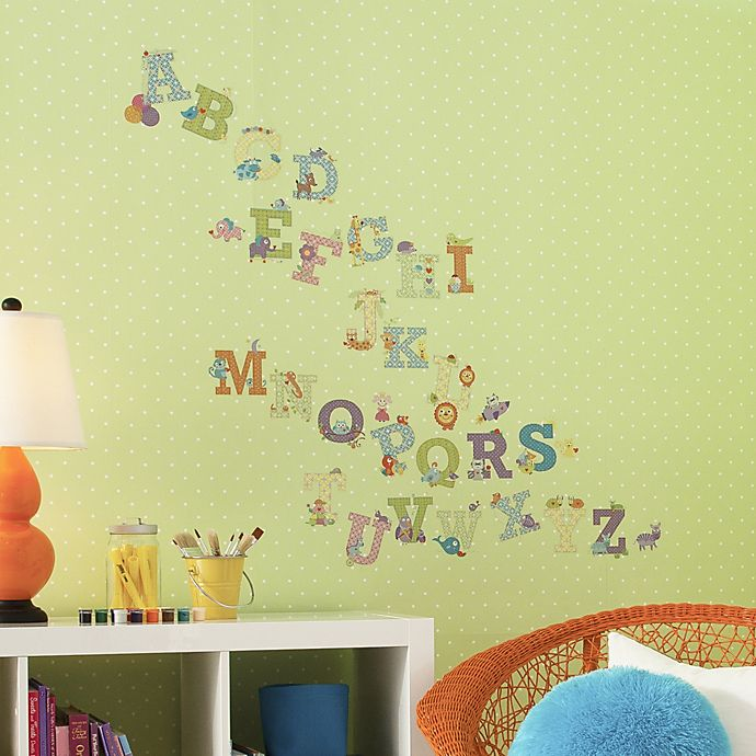 Alternate image 1 for Dena™ Happi Tree Animal Alphabet Peel and Stick Wall Decals (Set of 43)
