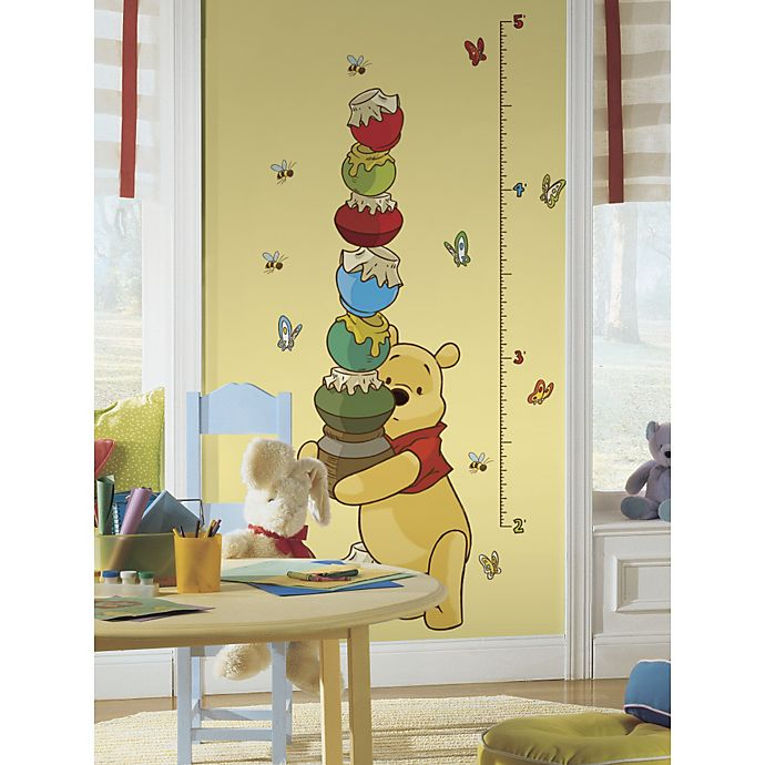 Roommates Winnie The Pooh Peel Stick Growth Chart Bed Bath And