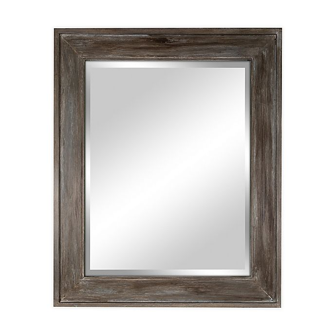 Alternate image 1 for Bee & Willow™ Home 33.5-Inch x 45.5-Inch Reclaimed Wood Wall Mirror in Driftwood