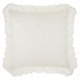 Wamsutta® Vintage Blythe Jacquard Ogee Waffle Textured European Pillow Sham in White