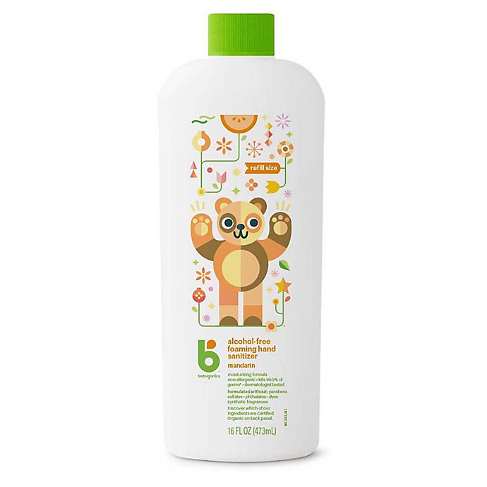 Alternate image 1 for Babyganics® 16 oz. Mandarin Alcohol-Free Foaming Hand Sanitizer Refill
