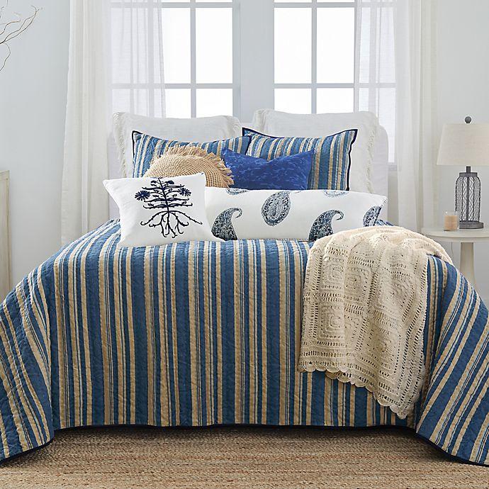 Alternate image 1 for Bee & Willow™ Home with Lauren Liess Indigo Bars Stripe 3-Piece Quilt Set