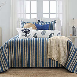 Bee & Willow™ Home with Lauren Liess Indigo Bars Stripe King 3-Piece Quilt Set