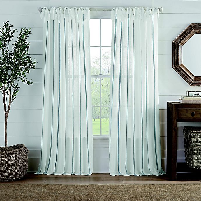 Alternate image 1 for Cambria® Fontaine Tie Top Light Filtering Window Curtain Panel (Single)