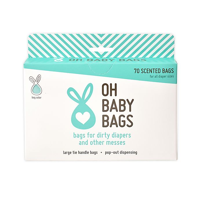 Alternate image 1 for Oh Baby Bags Diaper Disposal Bag/dispenser in Seafoam
