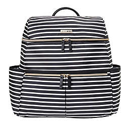 SKIP*HOP® Flatiron Striped Diaper Backpack in Black/White
