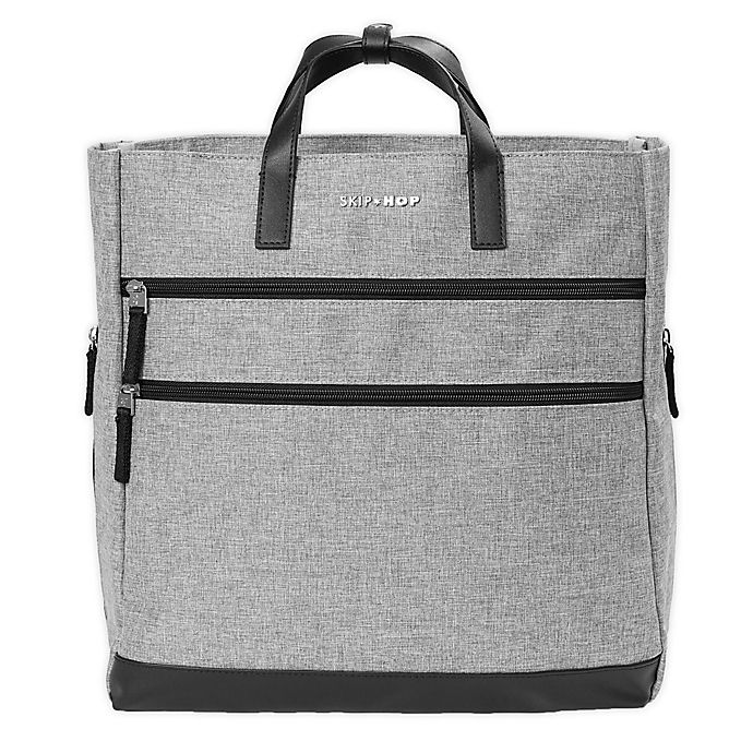 Alternate image 1 for SKIP*HOP® Trio Convertible Diaper Backpack in Heather Grey