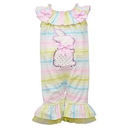 Bonnie Baby Bunny Sequin Ombré Striped Romper