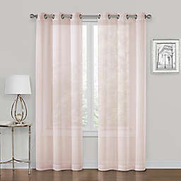 SALT™ Metallic 2-Pack Grommet Sheer Window Curtain