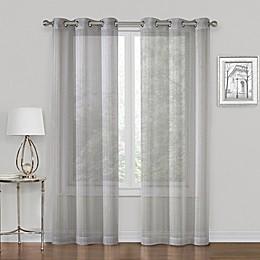 SALT™ Metallic 2-Pack Grommet Sheer Window Curtain