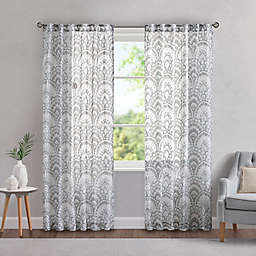Madison Park Tabitha Rod Pocket/Back Tab Light Filtering Window Curtain Panel