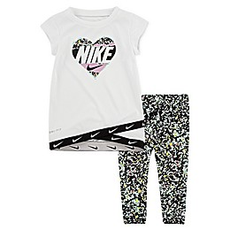 Nike® 2-Piece Dri-FIT Heart Tunic and Legging Set in Emerald
