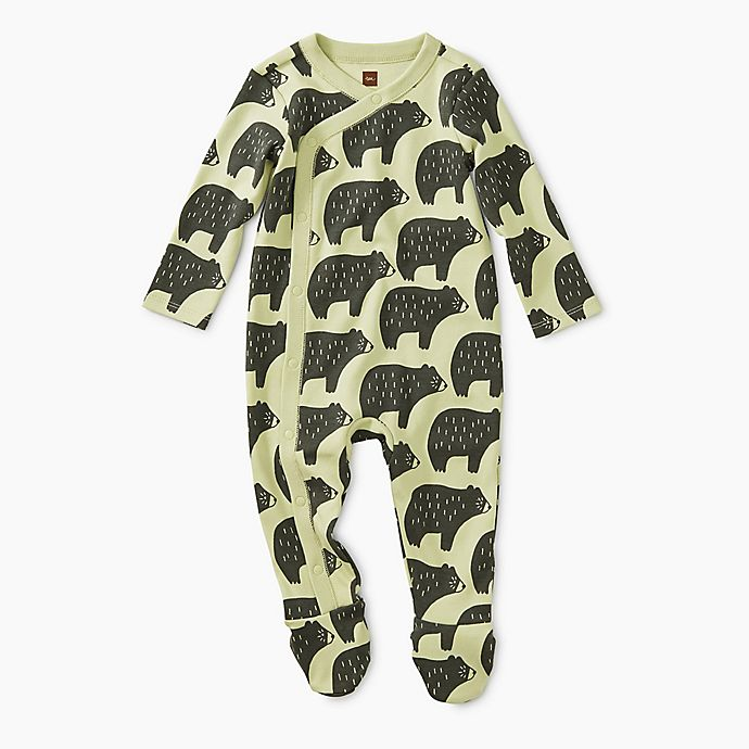 Alternate image 1 for Tea Collection Cuddly Cubs Long Sleeve Footie in White