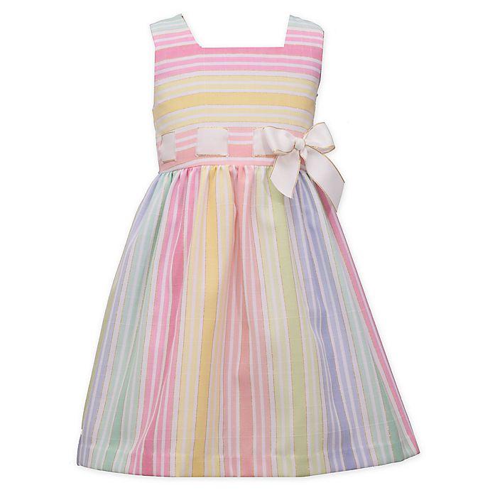 Alternate image 1 for Bonnie Baby Striped Linen Dress