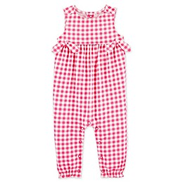 carter's® Gingham Jumpsuit in Pink