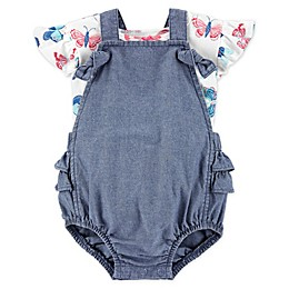 carter's® Chambray Floral Sunsuit Coverall
