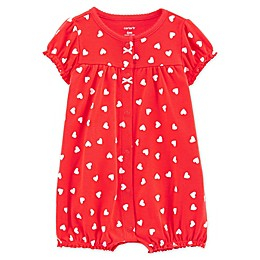 carter's® Heart Snap-Up Romper in Red