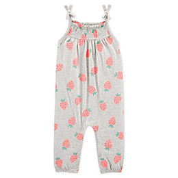 carter's® Strawberry Tank Jersey Jumpsuit in Pink/Heather