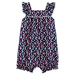 carter's® Floral Bubble Romper in Navy