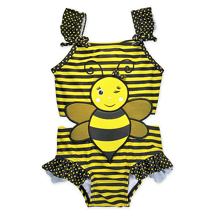 Alternate image 1 for sol swim® Bee-You-Tiful Connector Swimsuit in Yellow