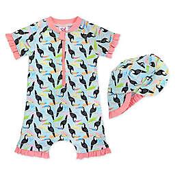 Sol Swim® 2-Piece Baby Toucans Rash Guard and Hat Set