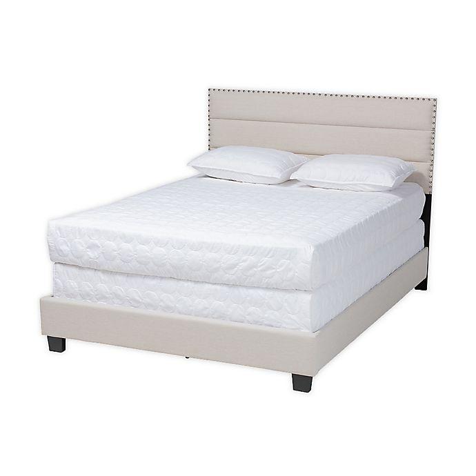 Alternate image 1 for Baxton Studio® Jocelyn Upholstered Panel Bed