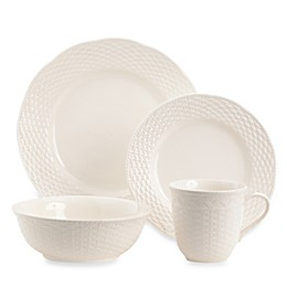 Red Vanilla Nantucket White 16-Piece Dinnerware Set
