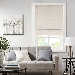 Madison Park Galen Basketweave Room Darkening Cordless Roman Shade Ivory