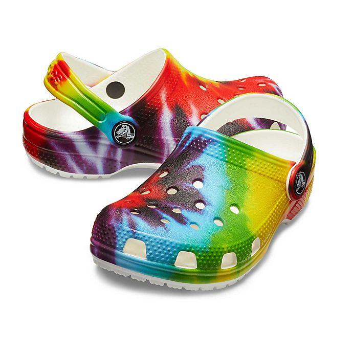 Alternate image 1 for Crocs™ Kids' Classic Tie Dye Clogs