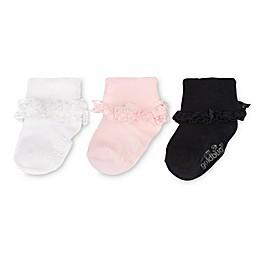 goldbug™ 3-Pack Cotton Lace Ruffle Socks