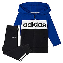 adidas® 2-Piece Hoodie & Jogger Pant Set in Royal Blue