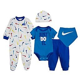 Nike® 5-Piece Swooshfetti Layette Set in Blue