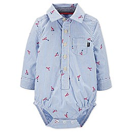 OshKosh B'gosh® Lobster Button Front Bodysuit
