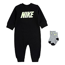 Nike® Icon 2-Piece Coverall and Socks Set in Black