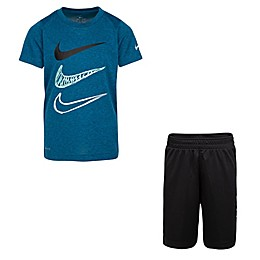 Nike® 2-Piece Dri-FIT Shirt and Short Set in Black